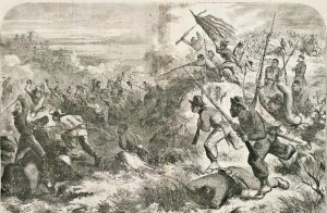 Battle of Island Mound, Butler, Missouri - 1st Kansas Colored Volunteers, Oct. 29, 1862