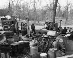 Evicted sharecroppers on highway
