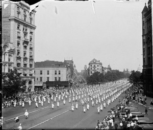 March of 1925, over 60,000 Klu Klux Klan members march in Washington, D.C. to the White House and U.S. Capital to display their ever increasing numbers across America