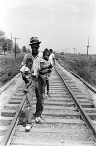 Sharecropper man and babies