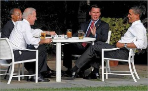 The 2009 White House 'beer summit' Vice President Joe Biden, Harvard professor Henry Louis Gates, Jr., Cambridge police Sergeant James Crowley, and President Obama met for a conversation over beers at the White House. In 2009 President Obama urged the races to talk to each other. Where are we in 2015 with that endeavor?